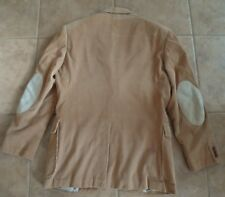 Corduroy Blazer Jacket Suede elbow patches mens 40R Vintage Tan 60's 70's lined