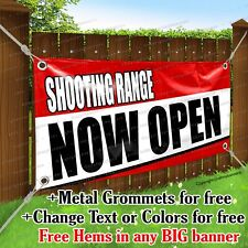 Shooting Range Now Open Advertising Vinyl Banner Sign Flag Any Size Thick