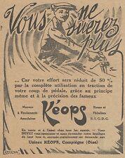 Z8295 Moyeux KEOPS - Pubblicità d'epoca - 1914 Old advertising
