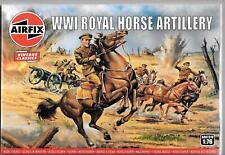 AIRFIX Vintage Classics WWI Royal Horse Artillery Figure Set in 1/76 A00731V ST