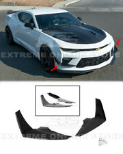 Carbon Flash Side Canards For 16-18 Chevy Camaro SS Front Bumper Pair Dive Plane
