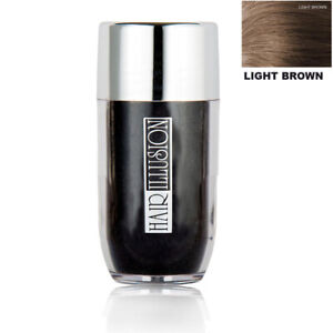 Natural Bald Scalp Concealer Hair Thickening Fibers by HAIR ILLUSION-Light Brown