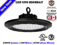 240 WATT LED UFO HighBay Light UL DLC 5700K 29000 Lumens Lighting Fixture Store