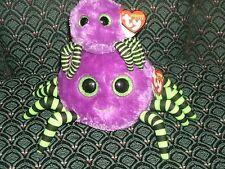 """Ty Beanie Ballz * CRAWLEY (Purple spider) 5"""" & clip MWMT RARE & RETIRED HTF"""