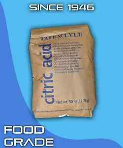 Citric Acid Food Grade 100% Pure FCC/USP Made in USA Fine Granular Anhydrous