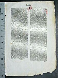 Incunabula,early,important Bible Lf,Genesis,chapter 27-30,Jenson,Venice,1479