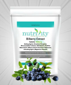 Antioxidant, Better Vision Bilberry Extract 4000mg Tablets Nutrivity UK