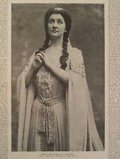 Emma Eames as Elsa in Lohengrin Soprano Harper's Weekly 1896