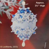 NOS Lee Wards BLUE SKY Mini Boutique 3.5'' High Christmas Ornament Kit Bag Japan