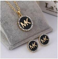 New Charm Women Jewelry hollow out M @ K fashion Necklace with earrings Gold W