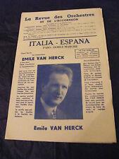 Partitura Italia Pasodoble España Marcha Emile Van Herck