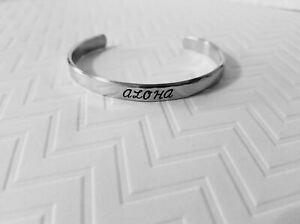 Hawaiian Custom Made Aluminum Cuff Bracelet (Choose From Three Designs)