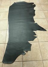 BLACK LEATHER COWHIDE FOR CRAFTS/UPHOLSTERY