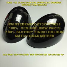 GENUINE BMW ASTRO BLACK MINI MIRROR COVER COOPER R55 R56 R57 R58 R59 R60 R61 JCW