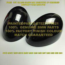 GENUINE BMW MIDNIGHT BLACK MINI MIRROR COVER CAPS COOPER R55 R56 R57 R58 R59 JCW