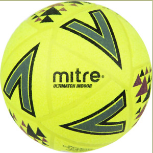 NEW Mitre Ultimatch Indoor Football - Cheap Felt Indoor 5 a side Ball size 5
