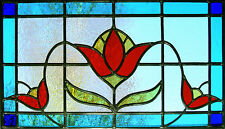 Incorniciato stampa-Stained Glass window TULIPANO FIORE (Picture DAISY Orchid Rose Art)