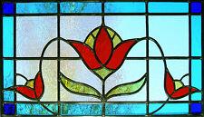 Incorniciato stampa-Stained Glass window TULIPANO FIORE (Picture DAISY Orchid Rose Art)