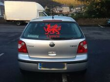 Welsh Dragon Cymru car window / bumper Decal Sticker 30cm x 21.5cm