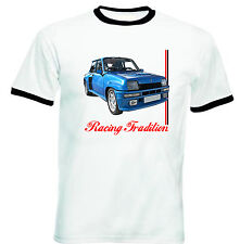 RENAULT 5 GT TURBO INSPIRED - NEW COTTON TSHIRT - ALL SIZES IN STOCK