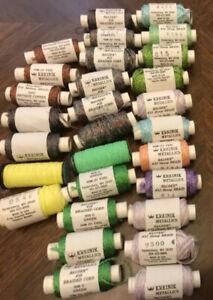 Kreinik Metallics Embroidery Thread #16 #32 29 spools mixed lot