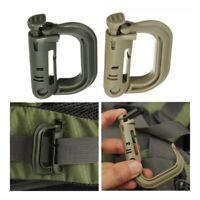 Tactical Molle Snap Centralizado Clip Mosqueton Llavero D - Ring