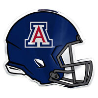 NCAA: Arizona Wildcats Helmet Aluminum Team Colors Auto Emblem