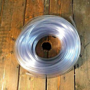"Clear Plastic Tubing 30 Ft Length 3/8"" ID X 1/2"" OD Flexible Vinyl Hose BPA Free"