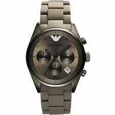 ** NEW **Emporio Armani® watch AR5950 , Black ION , mens CHRONOGRAPH