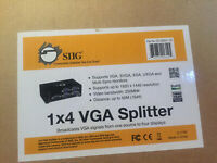 SIIG 1x4 VGA Splitter Distribution Amplifier 1920x1440 1 In 4 Out (CE-VG0D11-S1)