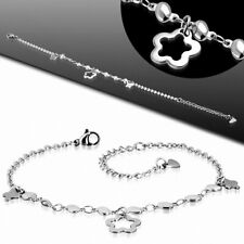 In The Shape Star With Peice Stretch Bracelet Stainless Steel With Link