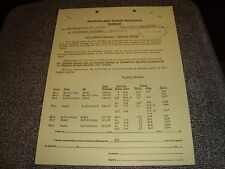 Boston and Maine Railroad Notice with Official Stamp April 25 1963 NMint 2 Pages