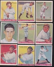 Lot of (28) 1933 Goudey Cards Reprints (4) Ruth Cards Lou Gehrig Ott All HOFers