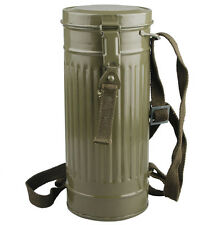 WWII GERMAN GAS MASK CANISTER CONTAINER AND STRAP -31378