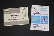 Old GDR Instruction manual AMK 18 Ratchet lever hoist Catalog Spare parts