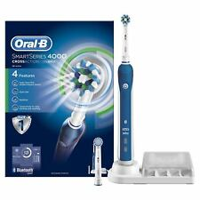 Oral B Smart Series 4000 Cross Action Electric Rechargeable Toothbrush Powered