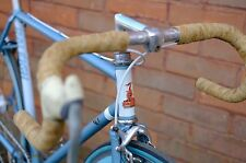 Raleigh Single Speed bike with deep rim wheels Blue Size 52cm steel frame -fixed