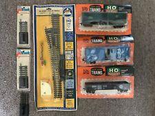 Lot of 7 Life-like H-O Trains & AHM Left Hand RC Switch & Track Original Pkgs