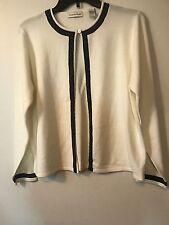 AMANDA SMITH 100% Acrylic Sweater Cardigan Long Sleeve Size LARGE