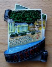 FRIDGE MAGNET = VIEW FROM BULGARIA - CITY OF OBZOR = PLASTIC MASS
