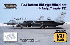 Wolfpack WP32005, F-14 Tomcat Mid. Type wheel set (for Tamiya/Trumpet,SCALE 1/32