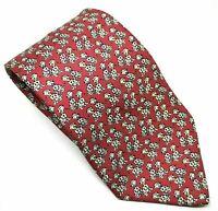 "Marks & Spencer Men's Tie Red 101 Dalmatians 100% Silk 3.75"" Width 58"" Length"