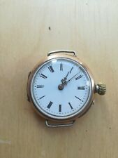 antique 800 silver cylinder  pocket watch Converted to wristwatch