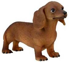 Dachshund Puppy Dog Figurine 3 inch Statue Resin Brown Standing Up