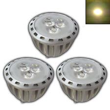 3x MR11 LED 4 Watt GU4 12V AC/DC warmweiß Leuchtmittel Birne Reflektor silber