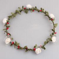 PE Foam Flower Garland Headband Festival Floral Crown Boho Wedding Bridesmaid