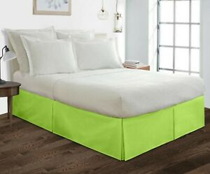 """600 Thread Count 100% Egyptian Cotton Bedding 1X Bed Skirt 18"""" Inch Drop Solid"""