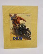Original Werbe Poster DKW Auto Union um 1950  Motorrad