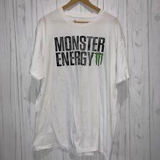 Monster Energy Promo White T Shirt Mens XL NWOT