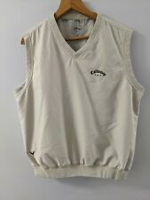 Callaway Golf Men's M  Polyester Vest Great condition tan color Sport Outerwear